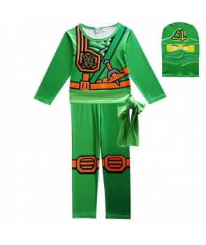 Costum carnaval copii Lego Ninjago, Ninja Verde