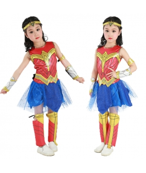 Costum carnaval copii Wonder Woman cu licenta