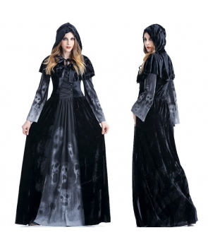 Costum Halloween femei fantoma neagra