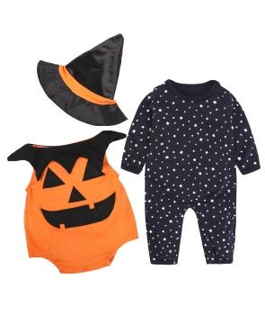 Costumatie Halloween copii Dovlecel cu palarie