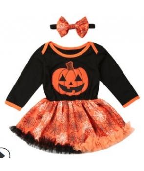 Costumatie Halloweem cu dovleac,fete 2ani