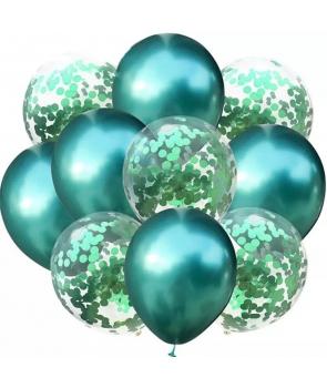 Set petrecere 10 baloane latex verzi