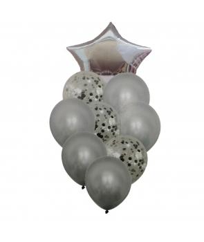 Set petrecere baloane argintii
