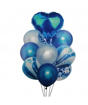 Set petrecere baloane albastre
