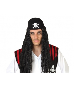 Peruca pirat cu bandana