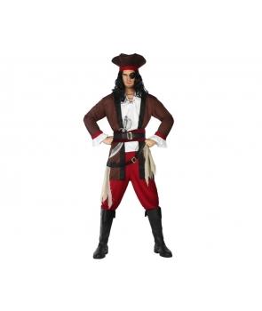 Costum barbati pirat visiniu Halloween