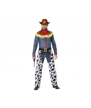 Costum carnaval barbati Cowboy cu esarfa