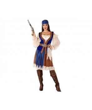 Costum carnaval femei Pirata cu albastru
