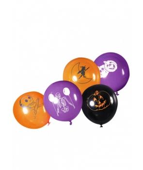 Set 8 baloane latex Halloween