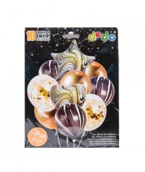 Set petrecere 10 baloane marmorate