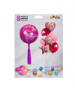 Set petrecere 8 baloane roz
