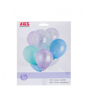 Set petrecere 9 baloane latex pastel