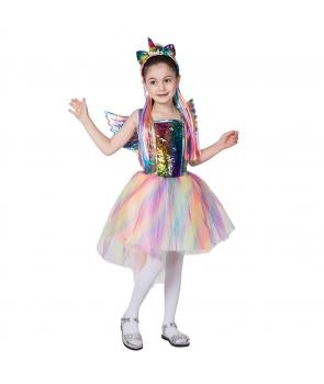 Costum carnaval copii Unicorn cu aripi