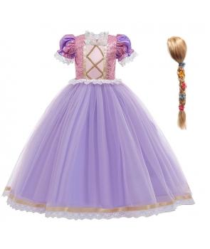 Costum carnaval fete Rapunzel de lux