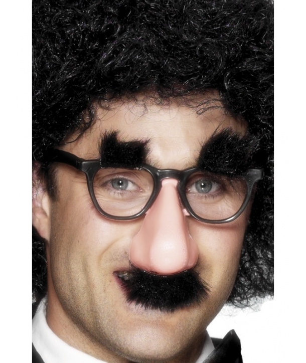 Ochelari cu nas si mustata