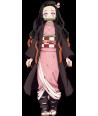 Peruca Cosplay Anime Nezuko Kamado Demon Slayer
