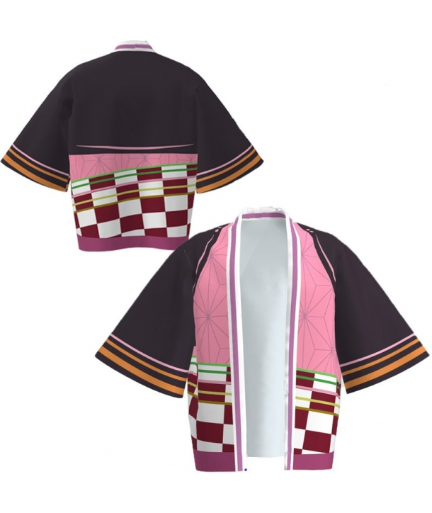 Kimono Cosplay Demon Slayer Nezuko Kamado copii