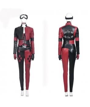 Costum realistic din imitatie de piele Harley Quinn 2