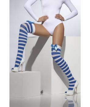 Ciorapi albastru cu alb