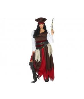Costum carnaval femei pirata mov