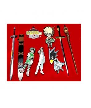 Set brelocuri cu suport, My Hero Academia Todoroki Bakugou, in cutie