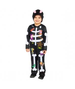 Costum Halloween copii schelet haios