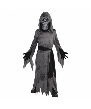 Costum Halloween copii Zombie gri cu masca