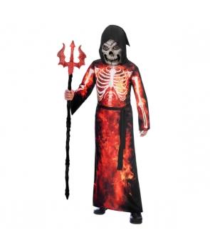 Costum Halloween copii Fantoma cu flacari