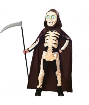 Costum Halloween copii Schelet cu pelerina