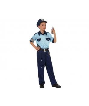 Costum carnaval copii Politist cu albastru