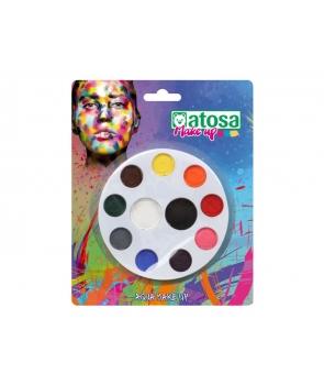 Machiaj carnaval paleta 11 culori