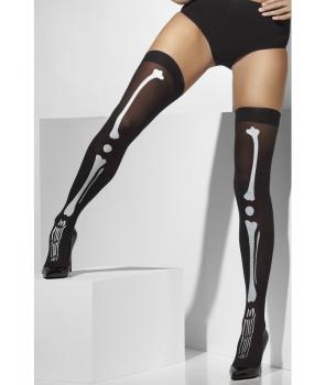 Ciorapi negri cu schelet