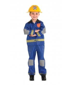 Costum carnaval baieti pompier model 2