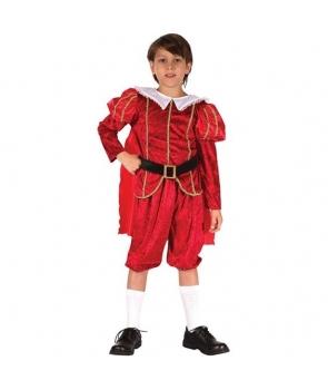 Costum carnaval baieti Print rosu