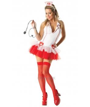 Costum carnaval adulti asistenta alba