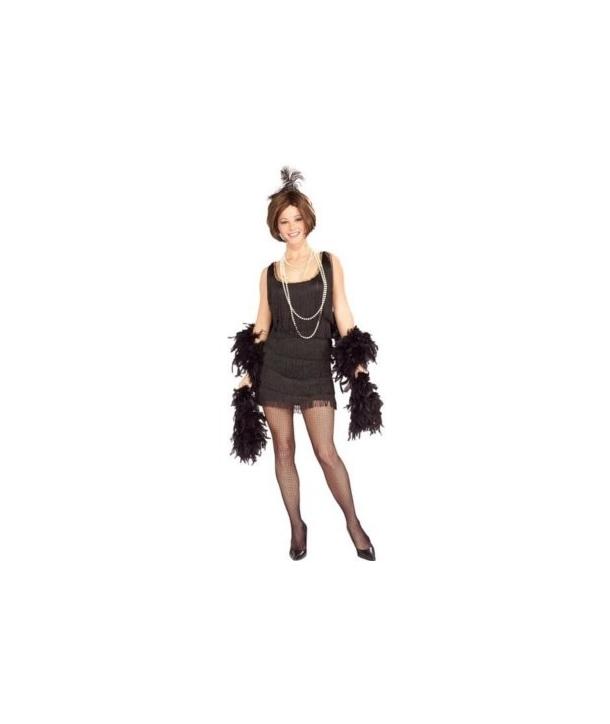 Costum carnaval femei anii '20 - negru