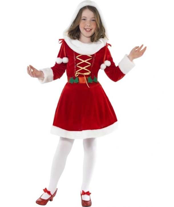 Costum Craciunita cu gluga fete