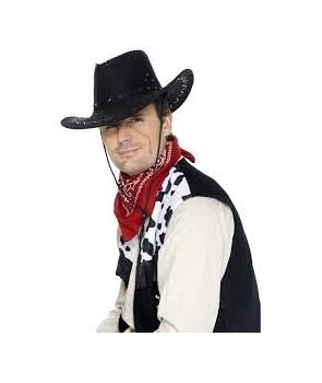 Palarie petrecere cowboy negru