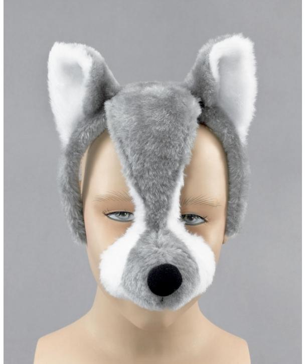 Masca animale carnaval - lup cu sunet