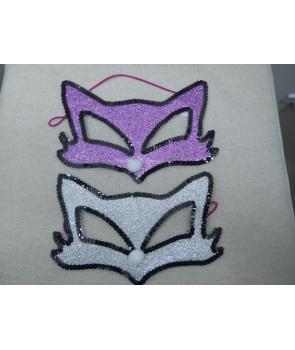 Masca carnaval pisica cu paiete