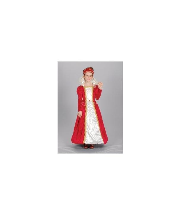 Costum carnaval copii Printesa Rosie