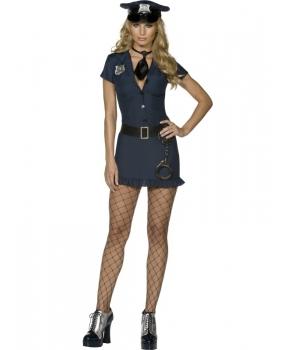 Costum femei politista albastru
