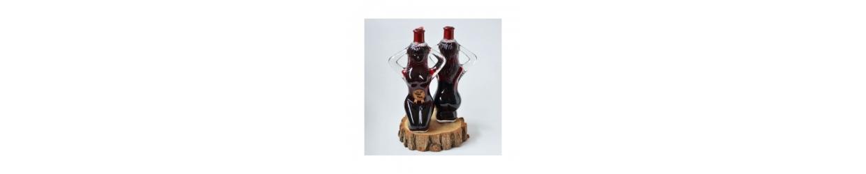 Sticle de vin cu mesaj